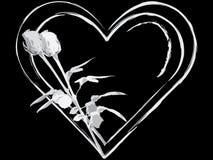 Rosas y corazones Foto de archivo libre de regalías