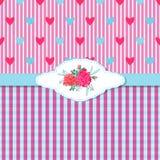 Rosas y Hearts1-01 Foto de archivo libre de regalías