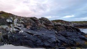 Rosbeg es una de las playas más finas de Donegal, Irlanda metrajes