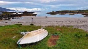 Rosbeg es una de las playas más finas de Donegal, Irlanda almacen de video