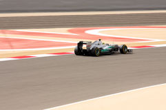 Rosberg of Mercedes racing in F1, 20 April 2012 Royalty Free Stock Images