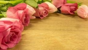 Rosbukett i rosa färger royaltyfria foton