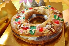 Roscón de Reyes Royalty Free Stock Photography