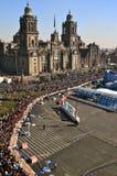 Rosca de Reyes en el lugar principal de Ciudad de México Fotos de archivo