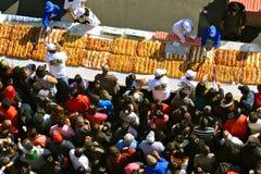 Rosca de Reyes sur la place principale de Mexico Photos libres de droits