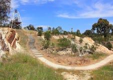Roscas de torno da mineração do ouro no país Victoria, Austrália Imagem de Stock Royalty Free