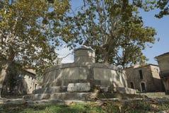 Roscigno viejo, Cilento (las TIC) Pueblo fantasma Foto de archivo