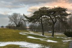 Roscoe Conkling Park fotografering för bildbyråer