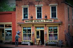 Roscoe Village Ohio arkivfoto