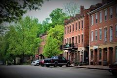 Roscoe Village Ohio arkivbild