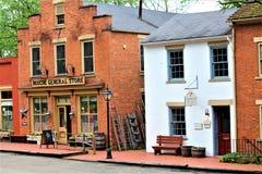 Roscoe Village Ohio arkivbilder
