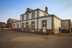 Roscoff train station  Brittany in northwestern France Stock Photo
