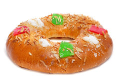 Roscon de Reyes, ισπανικό κέικ τριών βασιλιάδων Στοκ Εικόνα