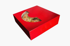 Roscon de reyes in a box Royalty Free Stock Images
