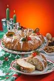 Roscon de Reyes, spanischer typischer Nachtisch der Offenbarung lizenzfreie stockbilder