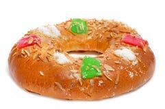 Roscon de reyes, spanish three kings cake Stock Image