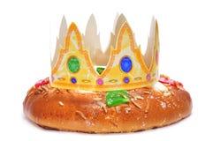 Roscon de reyes, spanjor tre konungar bakar ihop Royaltyfria Bilder