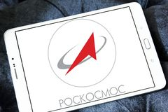 Roscosmos , Russian space program logo Stock Photography