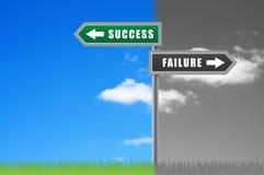 Rosd sign success failure. Stock Images