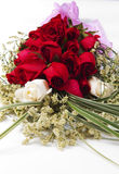 Rose. A symbol of love a bouquet of flowers, white roses and red roses Royalty Free Stock Image