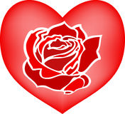 Rose. Image of heart with rose Royalty Free Stock Photo