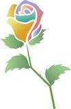 Rose. Illustrated isolated image of rose Royalty Free Stock Images