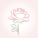 Rose. Lizenzfreie Stockbilder