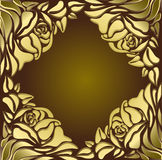 Rose. Design of a vector background in vintage style Stock Photos