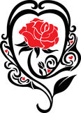 The rose. A decorative tattoo of a rose vector illustration