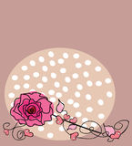Rose. Vector illustration of valentine greeting card Stock Photography