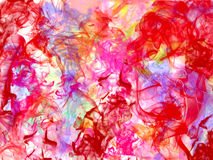 Rose abstract background flower colorful smoke. Abstract background colorful fog multicolor red blue yellow pink Royalty Free Stock Photography