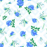 Rose abstract flowers blue-01 Stock Photos