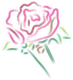 Rose abstract. Illustrated  abstract rose image on  white background Stock Photography