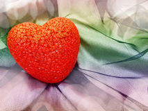 Rose abstrait de fond d'amour avec le coeur Images stock