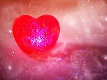 Rose abstrait de fond d'amour avec le coeur Image libre de droits