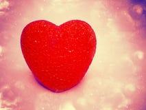 Rose abstrait de fond d'amour avec le coeur Photos libres de droits