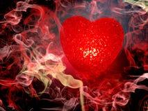 Rose abstrait de fond d'amour avec le coeur Photo stock