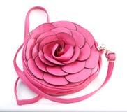 Rose aiment le sac de femme Photographie stock