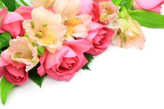 Rose and alstroemeria Stock Photography
