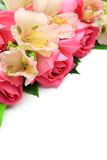 Rose and alstroemeria Stock Image
