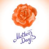 Rose anaranjada Día de madres feliz Rose Flowers anaranjada floreciente hermosa Vector del EPS 10 Foto de archivo libre de regalías