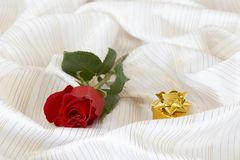 Rose And Box Royalty Free Stock Photos