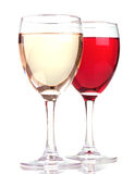 Rose And White Wine In A Wine Glasses Stock Photography