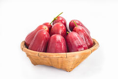 Rose apple in basket Stock Photography