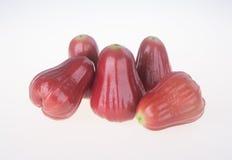 Rose Apple djamboevrucht op de achtergrond stock afbeelding