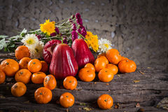 Rose apple with orange Stock Images