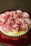 Rose Apple Tart Royaltyfri Fotografi