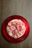 Rose Apple Tart Arkivfoton