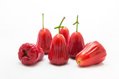 Rose apple Thailand apple fruit flavors of sweet red gloss. Royalty Free Stock Photography