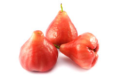 Rose apple. Three rose apple on a white background Royalty Free Stock Photography